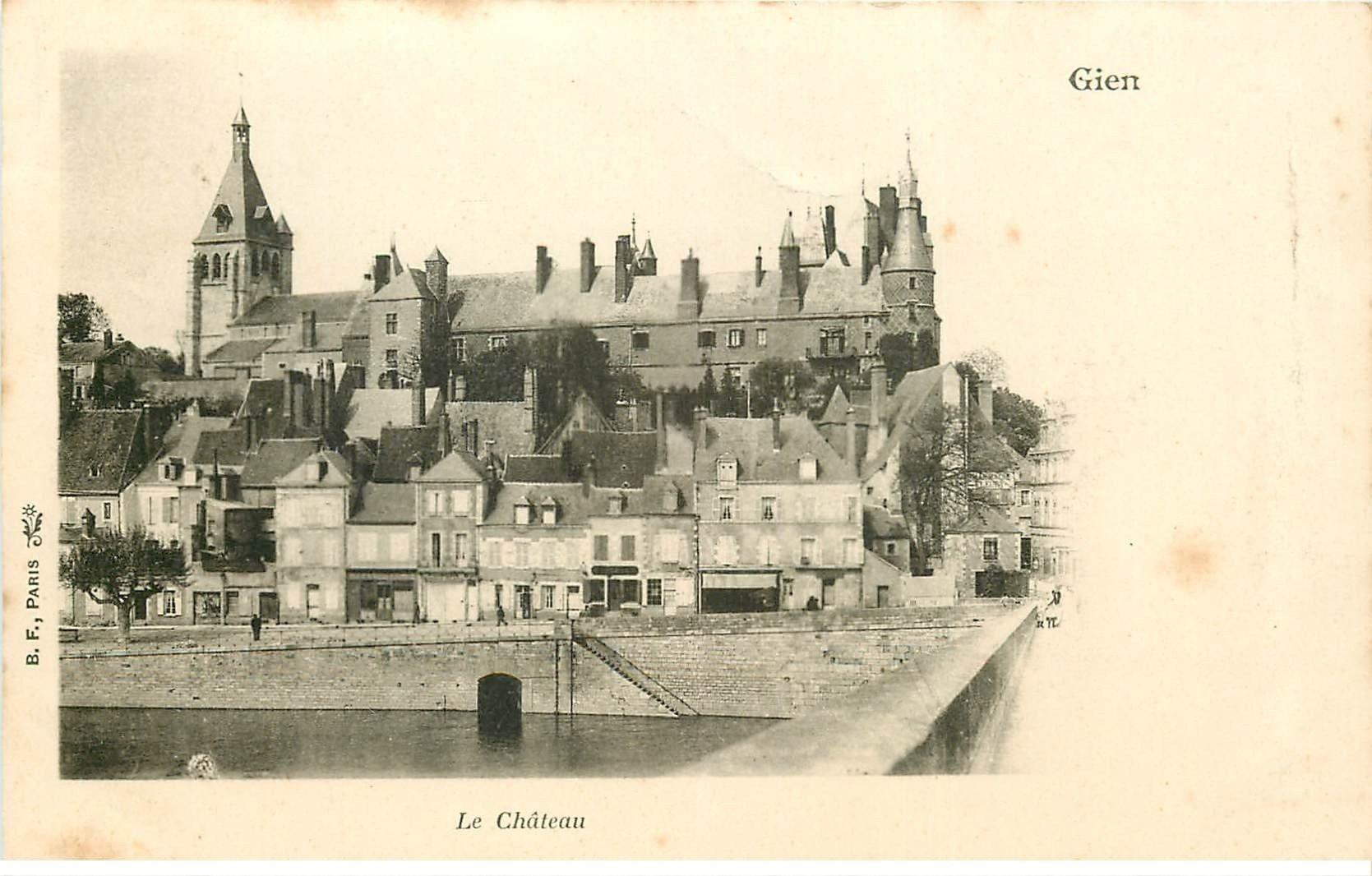 carte postale ancienne 45 GIEN. Le Château 1903