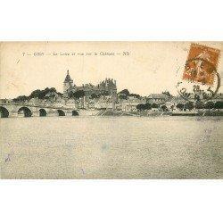 carte postale ancienne 45 GIEN. Loire et Château 1928