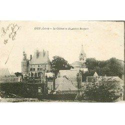 carte postale ancienne 45 GIEN. Château et anciens Remparts 1918
