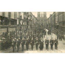 carte postale ancienne 45 ORLEANS. Bataillon des Sapeurs Pompiers 1907. Fête Jeanne d'Arc