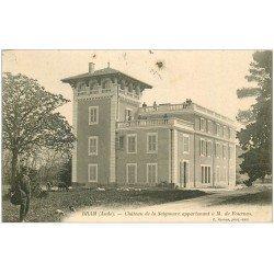carte postale ancienne 11 BRAM. Château de la Seignoure vers 1905