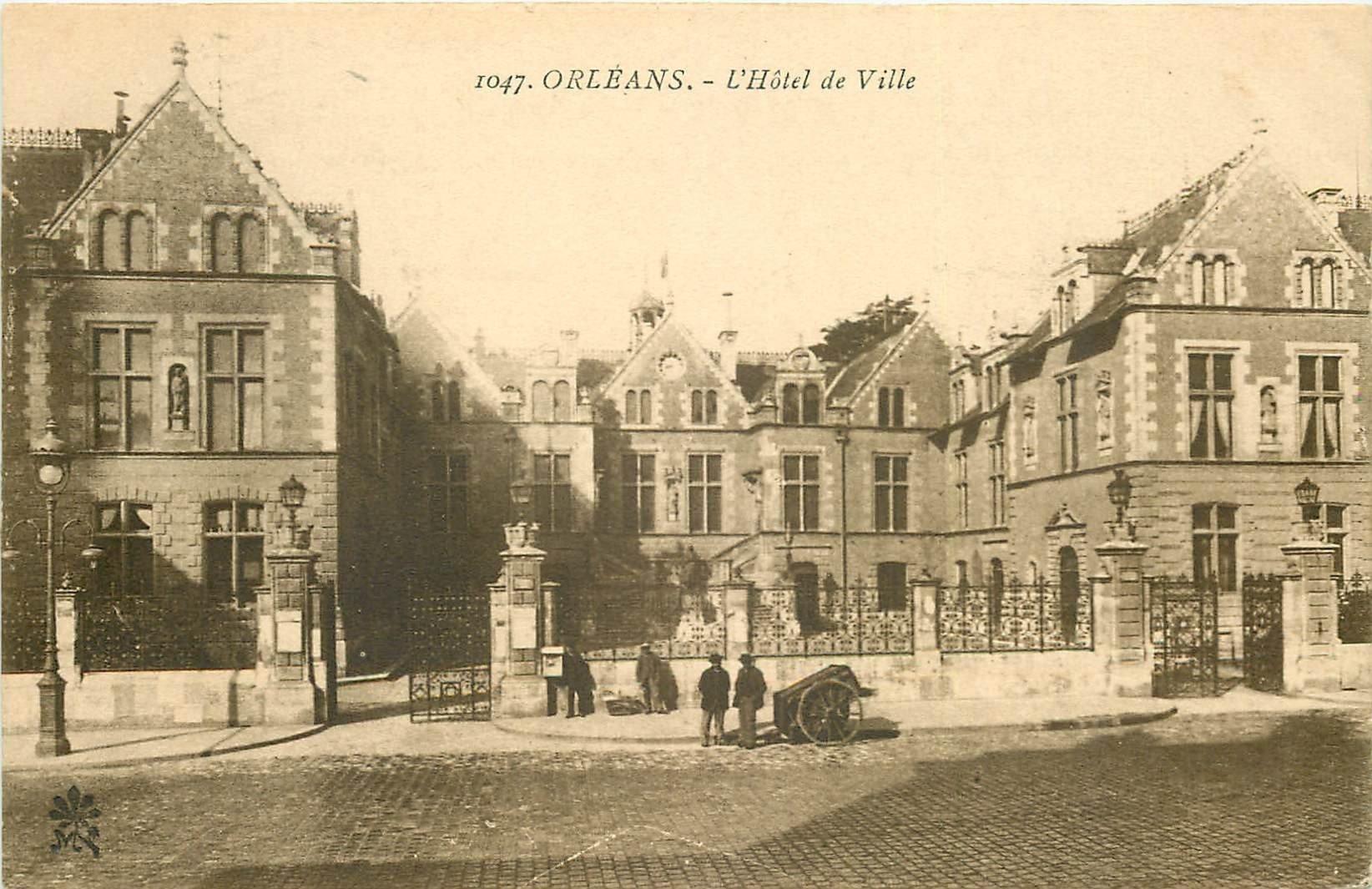 carte postale ancienne 45 ORLEANS. Lot intéressant de 10 CPA aux environs de 1910 n 14 avec une miniature