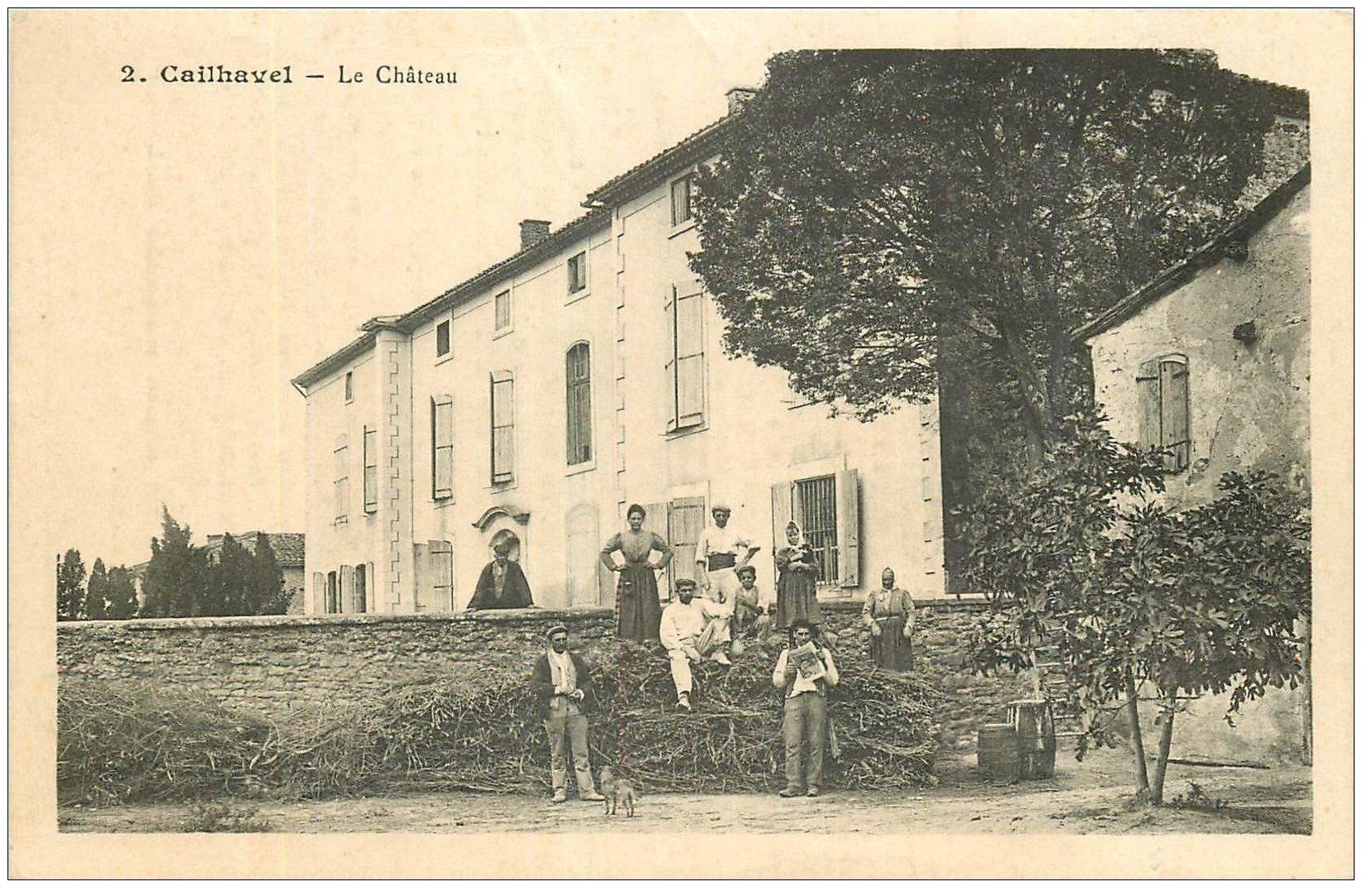 carte postale ancienne 11 CAILHAVEL. Le Château. Carte notice