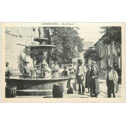 carte postale ancienne 11 CAMPLONG. La Place. Carte notice