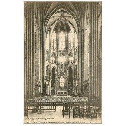 carte postale ancienne 64 BAYONNE. Autel de la Cathédrale