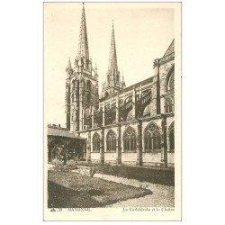 carte postale ancienne 64 BAYONNE. Cathédrale et Cloître 1945