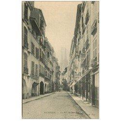 carte postale ancienne 64 BAYONNE. Hôtel Boule d'Or rue du Port-Neuf