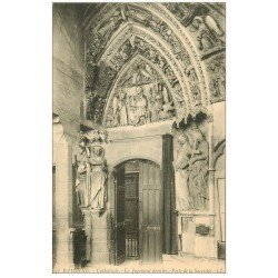 carte postale ancienne 64 BAYONNE. Jugement dernier Porte Sacristie Cathédrale
