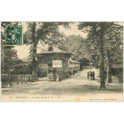 carte postale ancienne 64 BAYONNE. La Gare 1909