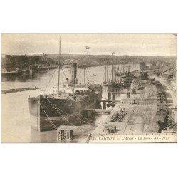 carte postale ancienne 64 BAYONNE. La Rade avec Navires sur l'Adour
