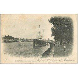 carte postale ancienne 64 BAYONNE. Les Allées Marines 1903