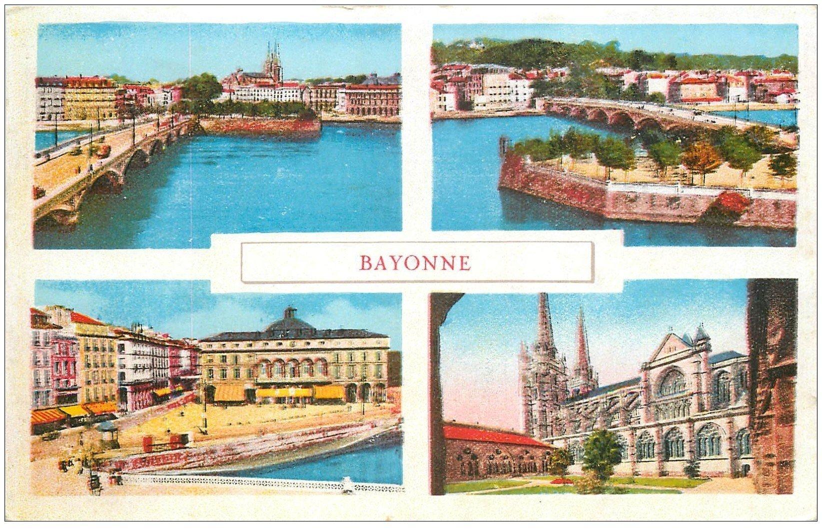carte postale ancienne 64 BAYONNE. Multivue