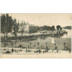 carte postale ancienne 64 BAYONNE. Place du Réduit et Théâtre 1915