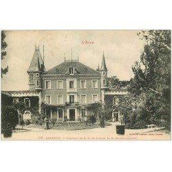 carte postale ancienne 11 CAPENDU. Château Notre-Dame de Lierre 1917