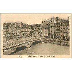 carte postale ancienne 64 BAYONNE. Pont Marengo et Musée Basque