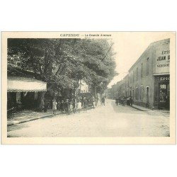 carte postale ancienne 11 CAPENDU. Epicerie sur la Grande Avenue
