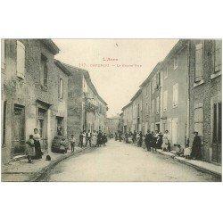 carte postale ancienne 11 CAPENDU. La Grand Rue 1916