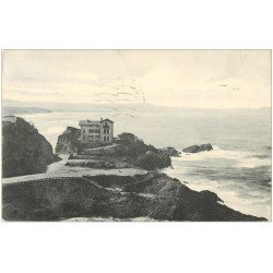 carte postale ancienne 64 BIARRITZ. Bains de la Côte des Basques 1934. Tampon Libraire rue Goslin à Paris VI