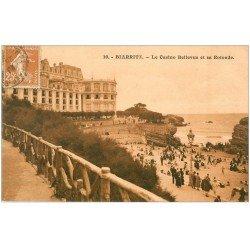 carte postale ancienne 64 BIARRITZ. Casino Bellevue et Rotonde 1920