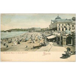 carte postale ancienne 64 BIARRITZ. Casino Municipal vers 1900
