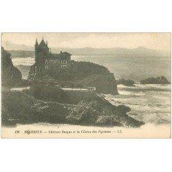 carte postale ancienne 64 BIARRITZ. Château Basque LL.