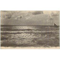 carte postale ancienne 64 BIARRITZ. Côte Basque à contre-jour 1922