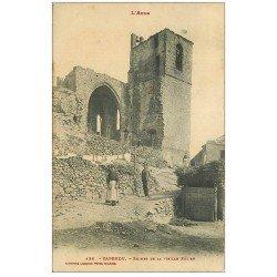 carte postale ancienne 11 CAPENDU. Ruines de la Vieille Eglise 1912