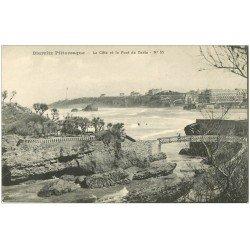 carte postale ancienne 64 BIARRITZ. Côte et Pont de Basta