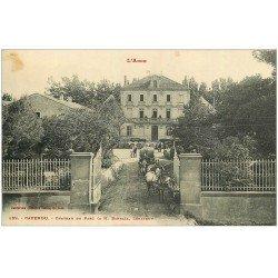 carte postale ancienne 11 CAPENDU. Transports de Vins au Château du Parc