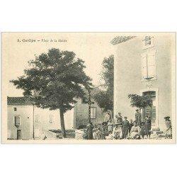 carte postale ancienne 11 CARLIPA. Place de la Mairie