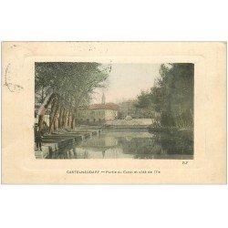 carte postale ancienne 11 CASTELNAUDARY. Canal côté de l'île 1910