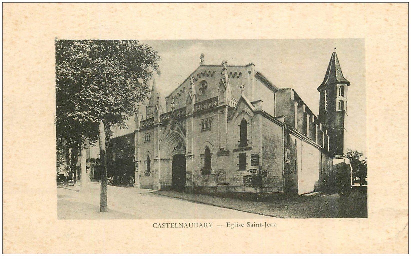 carte postale ancienne 11 CASTELNAUDARY. Eglise Saint-Jean