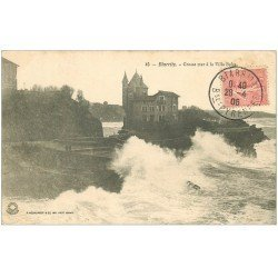 carte postale ancienne 64 BIARRITZ. Villa Belza 1906