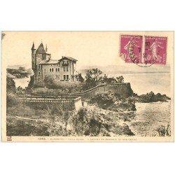 carte postale ancienne 64 BIARRITZ. Villa Belza 1936