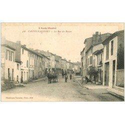 carte postale ancienne 11 CASTELNAUDARY. La Rue du Bassin 1921