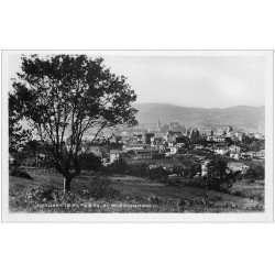 carte postale ancienne 64 HENDAYE. Au fond Fontarabie. Carte Photo