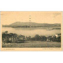 carte postale ancienne 64 HENDAYE. Baie de Chingudy et Fontarabie 1938
