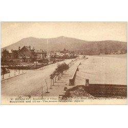 carte postale ancienne 64 HENDAYE. Boulevard et Villas de la Plage