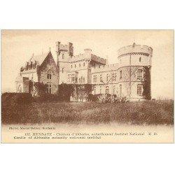carte postale ancienne 64 HENDAYE. Institut National Château Abbadia
