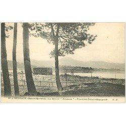 carte postale ancienne 64 HENDAYE. La Rivière Bidassoa