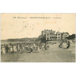 carte postale ancienne 64 HENDAYE. Le Casino 1924
