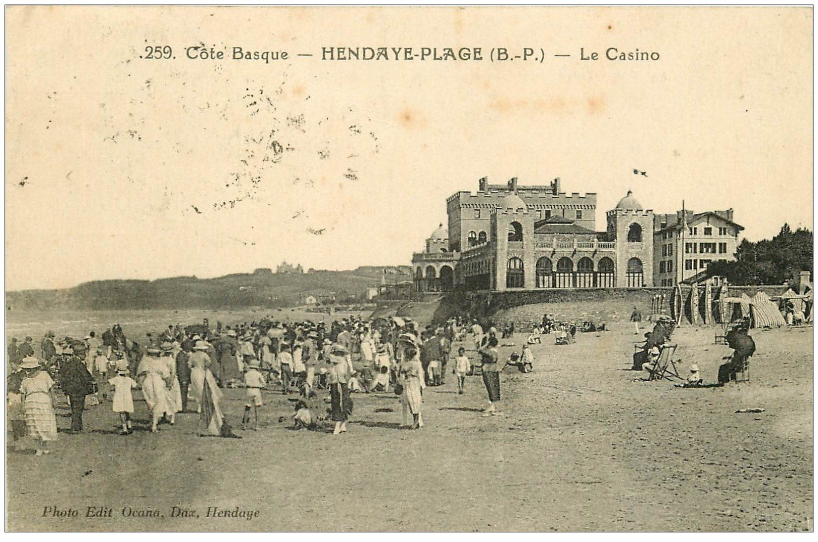 64 hendaye le casino 1924. Black Bedroom Furniture Sets. Home Design Ideas