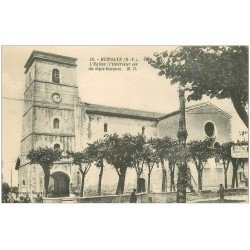 carte postale ancienne 64 HENDAYE. L'Eglise style basque