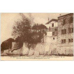 carte postale ancienne 64 HENDAYE. Maison Pierre Loti Remparts Camino