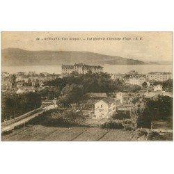 carte postale ancienne 64 HENDAYE. Palace Eskualduna 1924 et vue générale