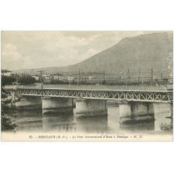 carte postale ancienne 64 HENDAYE. Pont d'Irun à Hendaye