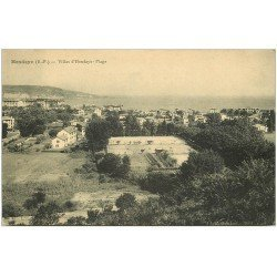 carte postale ancienne 64 HENDAYE. Villas et Tennis