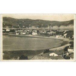 carte postale ancienne 64 HENDAYE. Vue générale 1939. Timbre manquant Carte Photo