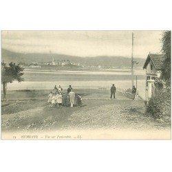 carte postale ancienne 64 HENDAYE. Vue sur Fontarabie animation 1906
