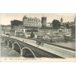 carte postale ancienne 64 PAU. Attelage Pont du Jurançon. Usine Couget